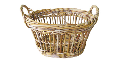 Woven-willow garden basket, 1890, offered by Nantucket House Antiques and Interior Design Studios, Inc.