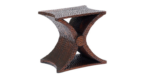 Jean-Michel Frank gouged oak Diabolo occasional table, late 1930s, offered by BAC