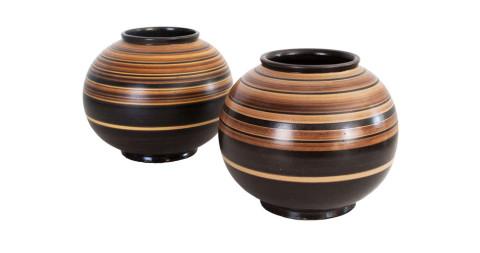 Jerk Werkmaster ceramic vases for Nittsjo, 1930s, offered by B4
