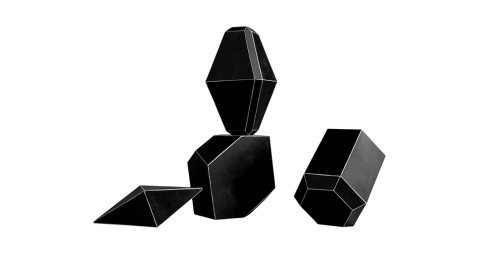Bakelite geometric forms, 1920, offered by Obsolete