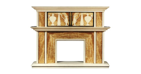 Alabaster and marble chimneypiece, ca. 1925, offered by Carlton Hobbs LLC