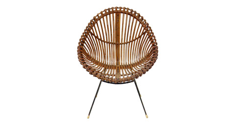 Wicker chair, 1970s, offered by EHRL Fine Art and Antiques