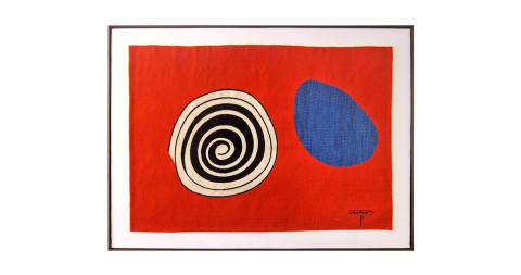 <i>La Tâche Bleue (The Blue Spot)</i> tapestry, 1975, after Alexander Calder, offered by Michel Contessa