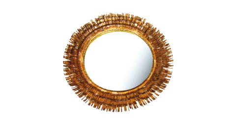 Curtis Jeré eyelash mirror, 1972, offered by Dual