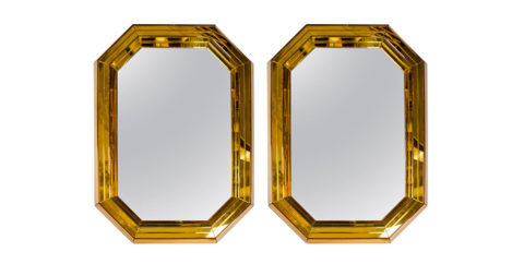 Pair of Italian mirrors, 1950s, offered by Gallery 25