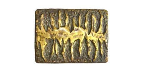 Bronze door handle, 1970s, offered by the Moderns