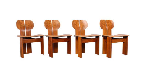 Four Africa Chairs by Afra & Tobia Scarpa, Offered by Sputnik Modern