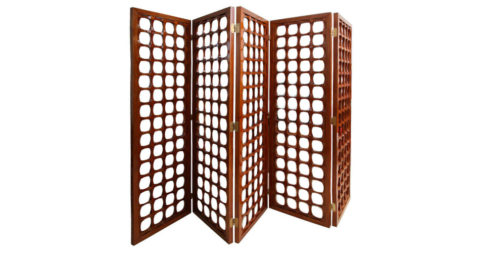 A Rare Italian Modern Mahogany 5-Panel Screen, Offered by Gary Rubinstein Antiques