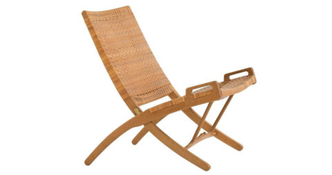 Hans J. Wegner Folding Chair for Johannes Hansen, Offered by Milsted Andersen