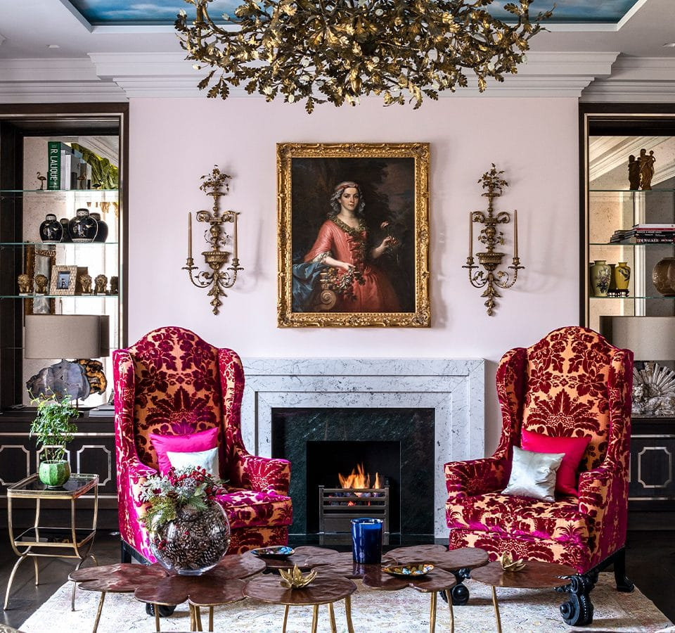 David Carter Adds Drama and Whimsy to a Grand 19th-Century London Home