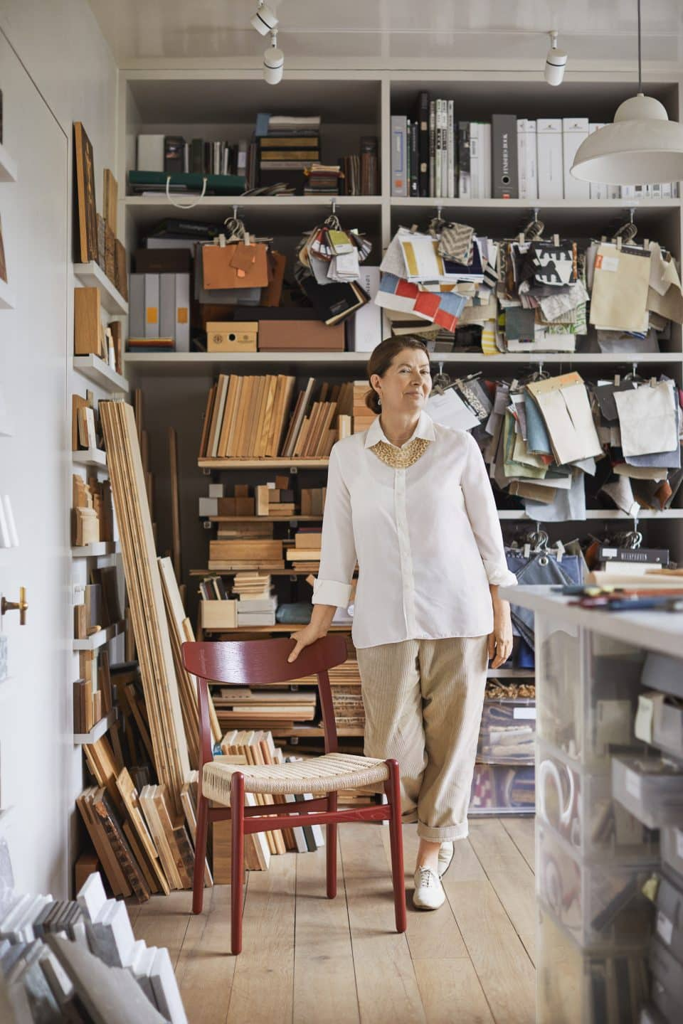 Design Icon Ilse Crawford on Her Colorful New Hans Wegner Chairs