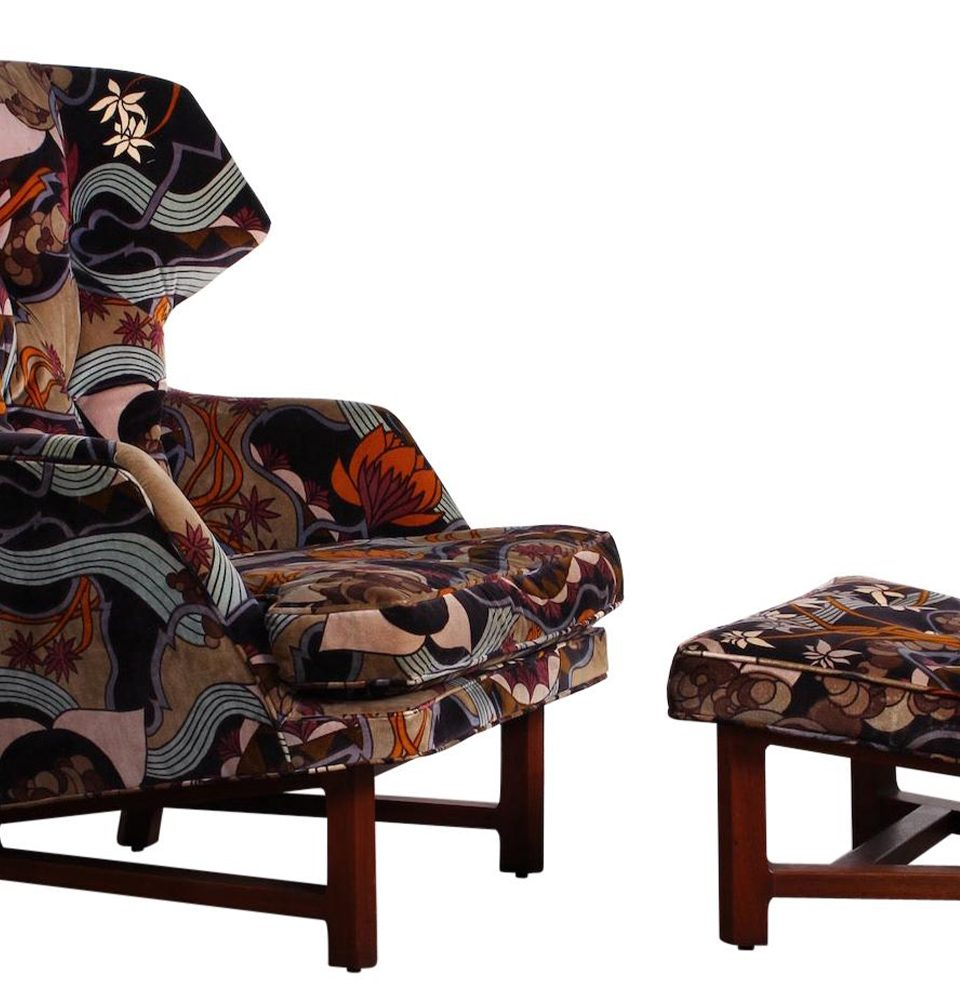Kaleidoscopic Upholstery Makes This Edward Wormley Chair a Showstopper