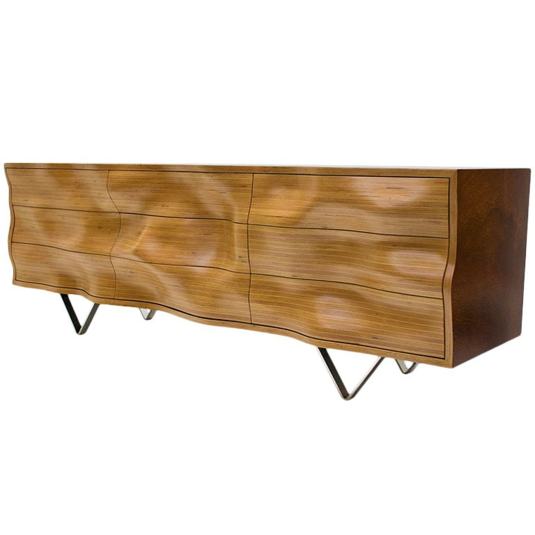 Wavy C cabinet by Peter Stern, offered by Decoratum