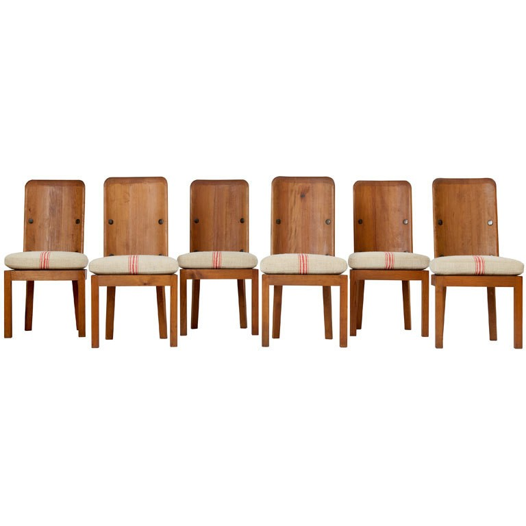 Pine chairs by Axel Einar Hjorth, 1930s, offered by Hedge