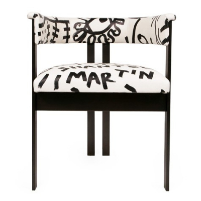 Elliott Chair by Shantell Martin for Kelly Wearstler