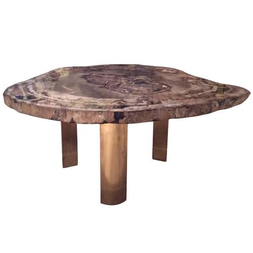 Karl Springer Petrified Wood Table