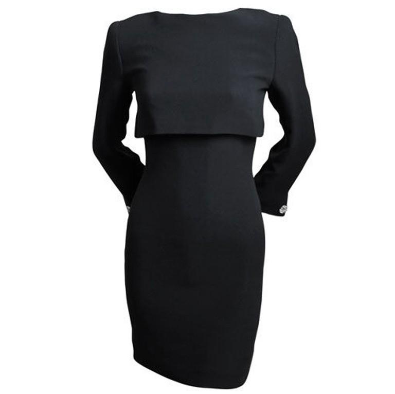 Bill Blass Black Silk Dress