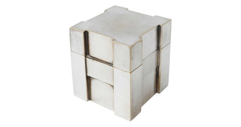 Hermés silver table lighter, ca. 1960, offered by Demosmobilia
