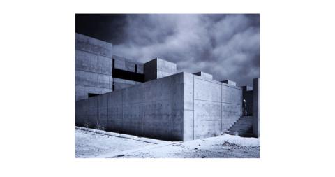 Julius Shulman photograph of Louis Kahn's Salk Institute, 1960s, offered by Sam Kaufman Gallery