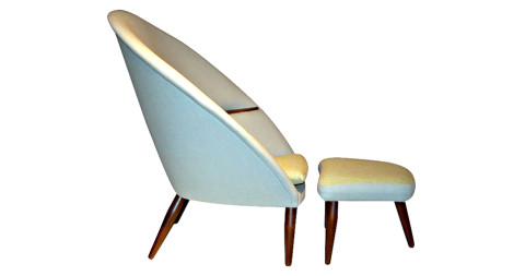 3. Nanna Ditzel chair and ottoman, 1953