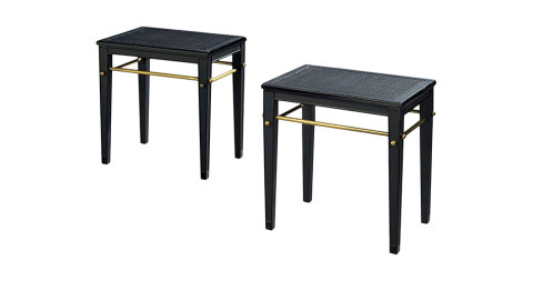 Pair of Jean-Michel Frank beechwood side tables, ca. 1932, offered by Galerie Jacques De Vos