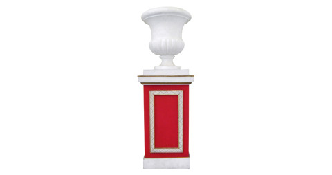 """Jean-Michel Frank and Christian Berard """"Medicis"""" urn and column, 1930s, offered by Galerie XX"""
