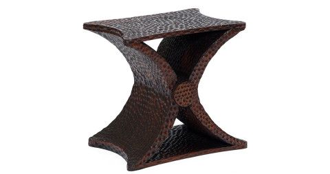 """""""Diabolo"""" Gouged Oak Occasional Table, offered by BAC"""