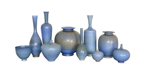 1. Collection of Berndt Friberg vases, 1950s