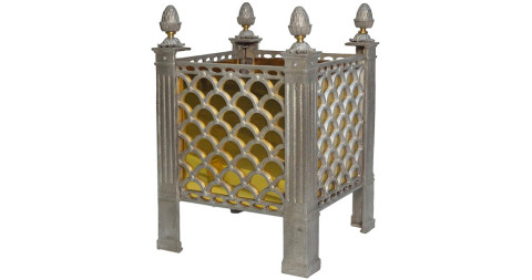 Cast-metal garden planter, 1990s, offered by Frederick P Victoria and Son, Inc.