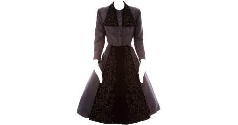 Dior haute couture dress coat, Fall/Winter 1948
