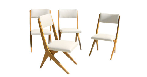 Jose Zanine Caldas side chairs, 1950s, offered by R & Company