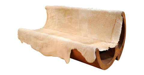 Jose Zanine Caldas sofa, 1970, offered by Almond Hartzog Gallery