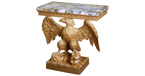 2. George II giltwood eagle console table, attributed to Francis Brodie, ca. 1740