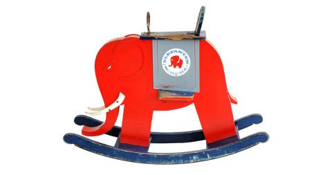 5. Rocking elephant, 1940s