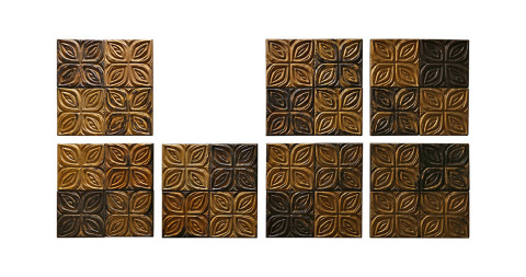Carved-redwood wall panels, ca. 1960, offered by Archive 20th Century
