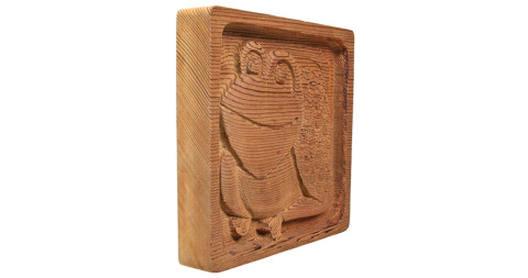 Animal woodcarving panel, 1971, offered by Bloomberry