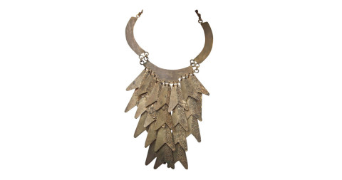 Silvana articulated gilt-metal bib necklace, 1950s, offered by Steinberg & Tolkien