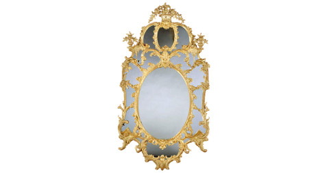 5. George III giltwood mirror, attributed to William and John Linnell, ca. 1770