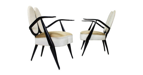 Guglielmo Ulrich Armchairs,  ca. 1940, offered by  Jochum Rodgers