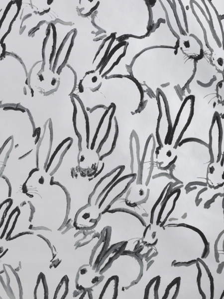 Hunt Slonem's Bunnies Get out of the Studio and onto the Wall