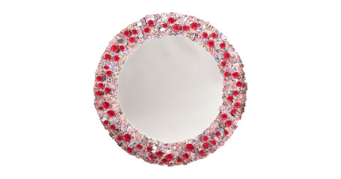 That's Amore mirror, 2011, by Barnaby Barford, offered by Decoratum