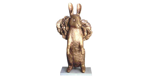 Lapin Debout I, 2012, by Claude Lalanne, offered by Paul Kasmin Gallery