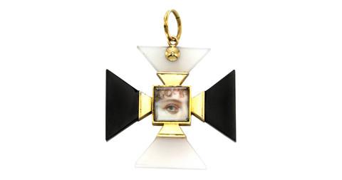 Multi-Gem Maltese Cross Pendant, 1820s, offered by FD