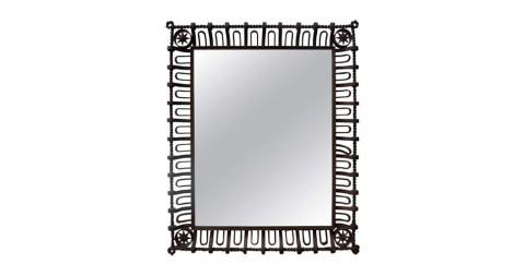 Gilbert Poillerat wrought-iron mirror, ca. 1941