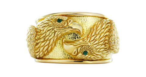 David Webb Gold Eagle Cuff, 21st Century, offered by Shreve, Crump & Low