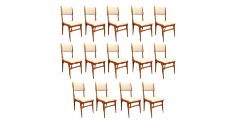 Set of 14 Carlo de Carli chairs, 1954, offered by Enrica de Micheli