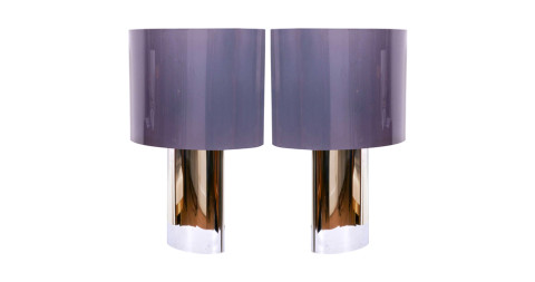 A pair of large French table lamps, 1970s, offered by Jean-Louis Danant