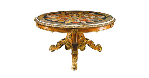 Center table, ca. 1840, signed by Taprell, Holland & Son of London