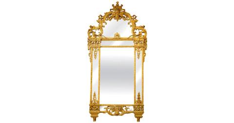 Louis XIV gilt mirror, 17th century, offered by Hildegunn Hawley Antiques