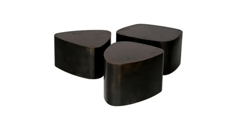 Stephane Ducatteau for Decoratum custom-made black Galets center table, 2007, offered by Decoratum